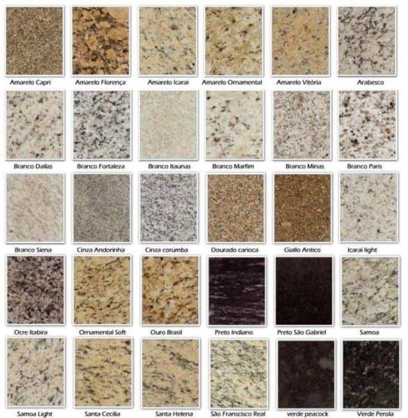 Tipos de Granitos (foto: Tua Casa)