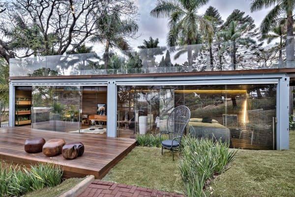 Vidro refletivo: Habitat Champanhe na Casa do Jardim, do Arquiteto Luís Fábio Rezende de Araújo, na Casa Cor MG 2013
