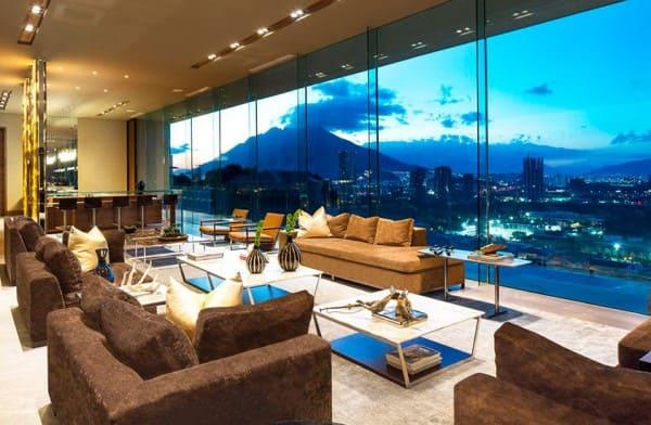 Vidro refletivo em apartamento traz privacidade (foto: Archglass Brasil)