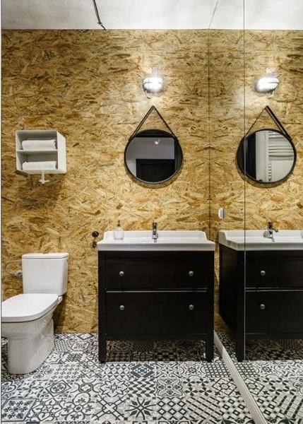 Chapa de OSB em lavabo (foto: Casa e Construção)