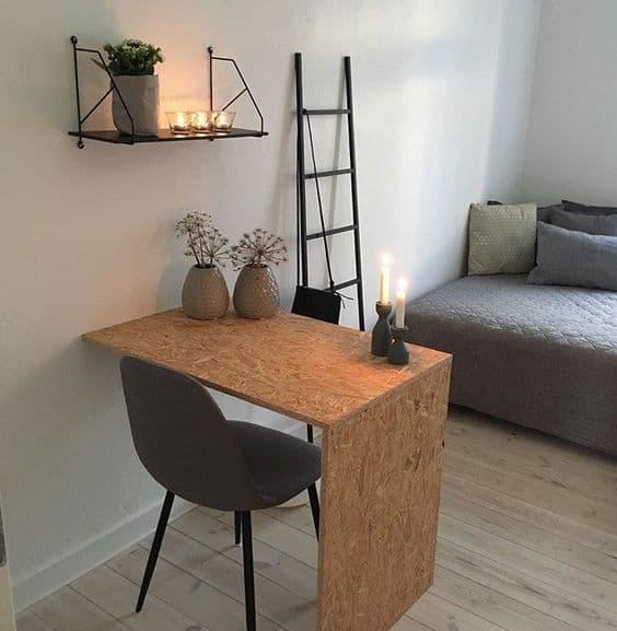 Escrivaninha feita de OSB (foto: Casa e Construção)