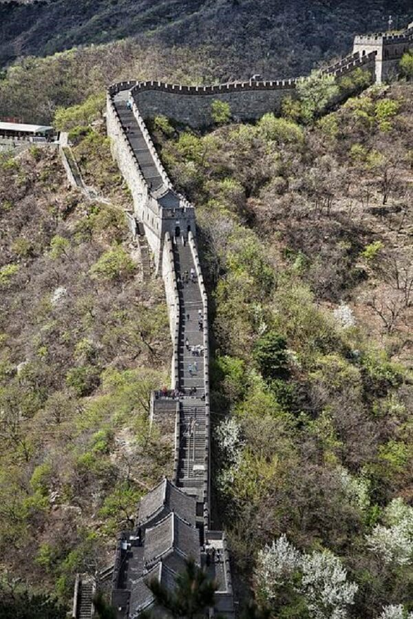 A Muralha da China se estende da província de Gansu até o Golfo de Bohai. Fonte: Flickr