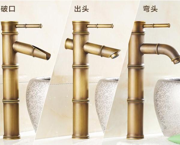 Torneiras diferentes: torneira com aparência de bambu (foto: AliExpress)