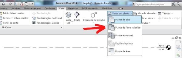 Planta de forro refletido no Revit (foto: DocPlayer.com - Material de Paulo Sena e Tito Sena)