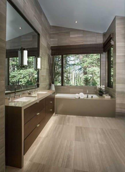 Marmoglass em bancada do banheiro e banheira (foto: Decor Fácil)